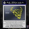 Cow Skull Decal Sticker Yellow Laptop 120x120
