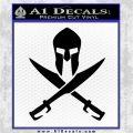 Crossed Spartan Swords Decal Sticker D2 Black Logo Emblem 120x120
