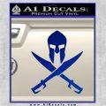 Crossed Spartan Swords Decal Sticker D2 Blue Vinyl 120x120