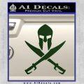 Crossed Spartan Swords Decal Sticker D2 Dark Green Vinyl 120x120