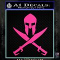 Crossed Spartan Swords Decal Sticker D2 Hot Pink Vinyl 120x120