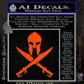 Crossed Spartan Swords Decal Sticker D2 Orange Vinyl Emblem 120x120
