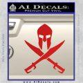 Crossed Spartan Swords Decal Sticker D2 Red Vinyl 120x120