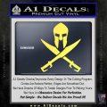 Crossed Spartan Swords Decal Sticker D2 Yelllow Vinyl 120x120