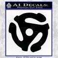 DJ 45 Vinyl Adapter Spider Decal Sticker DS Black Logo Emblem 120x120