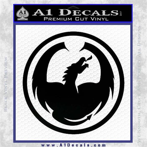 DRAGON OPTICAL LOGO VINYL DECAL STICKER Black Logo Emblem