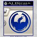 DRAGON OPTICAL LOGO VINYL DECAL STICKER Blue Vinyl 120x120