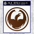 DRAGON OPTICAL LOGO VINYL DECAL STICKER Brown Vinyl 120x120