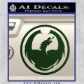 DRAGON OPTICAL LOGO VINYL DECAL STICKER Dark Green Vinyl 120x120