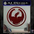 DRAGON OPTICAL LOGO VINYL DECAL STICKER Dark Red Vinyl 120x120