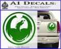 DRAGON OPTICAL LOGO VINYL DECAL STICKER Green Vinyl 120x97