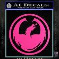 DRAGON OPTICAL LOGO VINYL DECAL STICKER Hot Pink Vinyl 120x120