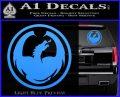 DRAGON OPTICAL LOGO VINYL DECAL STICKER Light Blue Vinyl 120x97