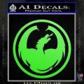 DRAGON OPTICAL LOGO VINYL DECAL STICKER Lime Green Vinyl 120x120