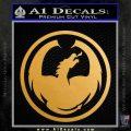 DRAGON OPTICAL LOGO VINYL DECAL STICKER Metallic Gold Vinyl 120x120
