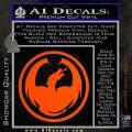 DRAGON OPTICAL LOGO VINYL DECAL STICKER Orange Vinyl Emblem 120x120