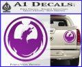 DRAGON OPTICAL LOGO VINYL DECAL STICKER Purple Vinyl 120x97