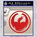 DRAGON OPTICAL LOGO VINYL DECAL STICKER Red Vinyl 120x120