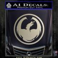 DRAGON OPTICAL LOGO VINYL DECAL STICKER Silver Vinyl 120x120