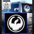 DRAGON OPTICAL LOGO VINYL DECAL STICKER White Emblem 120x120