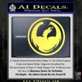 DRAGON OPTICAL LOGO VINYL DECAL STICKER Yelllow Vinyl 120x120