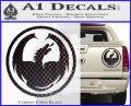 DRAGON OPTICAL LOGO VINYL Decal Sticker Carbon Fiber Black 120x97