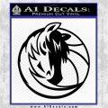 Dallas Mavericks CR1 Decal Sticker Black Logo Emblem 120x120