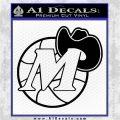 Dallas Mavericks CR2 Decal Sticker Black Logo Emblem 120x120