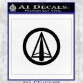 Dark Archer Malcolm Merlyn emblem DLB Decal Sticker Black Logo Emblem 120x120