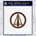 Dark Archer Malcolm Merlyn emblem DLB Decal Sticker Brown Vinyl 120x120