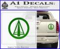 Dark Archer Malcolm Merlyn emblem DLB Decal Sticker Green Vinyl 120x97