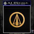 Dark Archer Malcolm Merlyn emblem DLB Decal Sticker Metallic Gold Vinyl 120x120