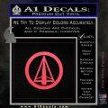 Dark Archer Malcolm Merlyn emblem DLB Decal Sticker Pink Vinyl Emblem 120x120