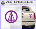Dark Archer Malcolm Merlyn emblem DLB Decal Sticker Purple Vinyl 120x97