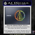 Dark Archer Malcolm Merlyn emblem DLB Decal Sticker Sparkle Glitter Vinyl 120x120
