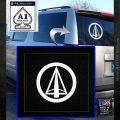 Dark Archer Malcolm Merlyn emblem DLB Decal Sticker White Emblem 120x120