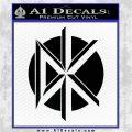 Dead Kennedys DK Logo Decal Sticker Black Logo Emblem 120x120