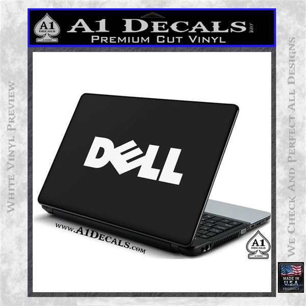 Dell Logo RDZ Decal Sticker White Vinyl Laptop