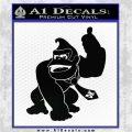 Donkey Kong Full Body SXC Decal Sticker Black Logo Emblem 120x120