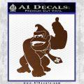 Donkey Kong Full Body SXC Decal Sticker Brown Vinyl 120x120