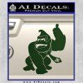 Donkey Kong Full Body SXC Decal Sticker Dark Green Vinyl 120x120