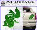 Donkey Kong Full Body SXC Decal Sticker Green Vinyl 120x97