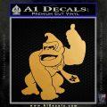 Donkey Kong Full Body SXC Decal Sticker Metallic Gold Vinyl 120x120
