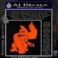 Donkey Kong Full Body SXC Decal Sticker Orange Vinyl Emblem 120x120