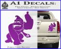 Donkey Kong Full Body SXC Decal Sticker Purple Vinyl 120x97