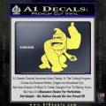 Donkey Kong Full Body SXC Decal Sticker Yelllow Vinyl 120x120