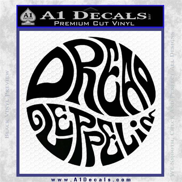 Dread Zeppelin Logo Decal Sticker VZL Black Logo Emblem