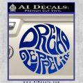 Dread Zeppelin Logo Decal Sticker VZL Blue Vinyl 120x120