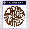 Dread Zeppelin Logo Decal Sticker VZL Brown Vinyl 120x120