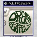 Dread Zeppelin Logo Decal Sticker VZL Dark Green Vinyl 120x120